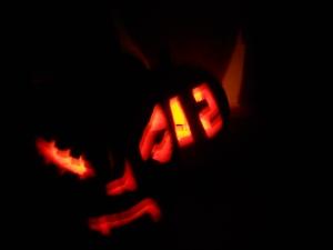 Jack-o-lanterns in the wild.
