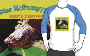 Gator McBumpypants baseball shirt from RedBubble.com