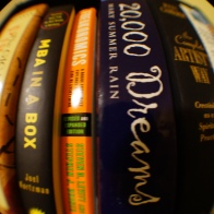 Books through a fish eye lens
