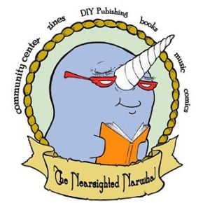 logo for the Nearsighted Narwhal bookstore