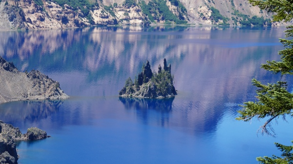 great reflection on Crater Lake