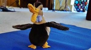 Dee Dee showing off her wings