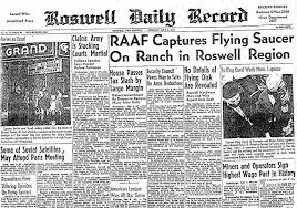 Cover of Roswell Daily Record from 1947