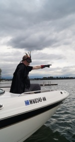 Bad guy on a boat