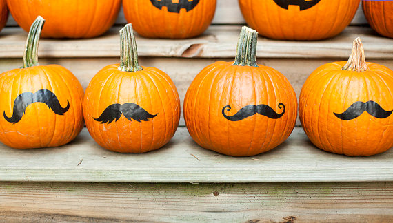pumpkins with mustaches