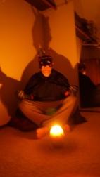villain meditates