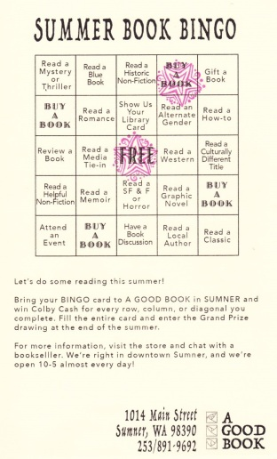 A Good Book Summer Bingo Card
