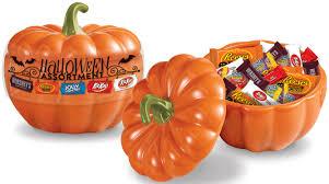 Hershey's Halloween assortment bowl shaped like a pumpkin