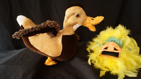 Dress your pterodactyl like a baby duck