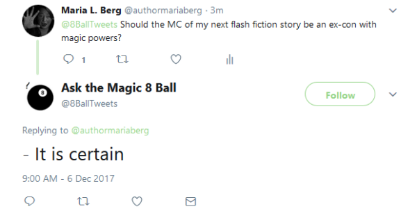 Ask the magic 8 ball
