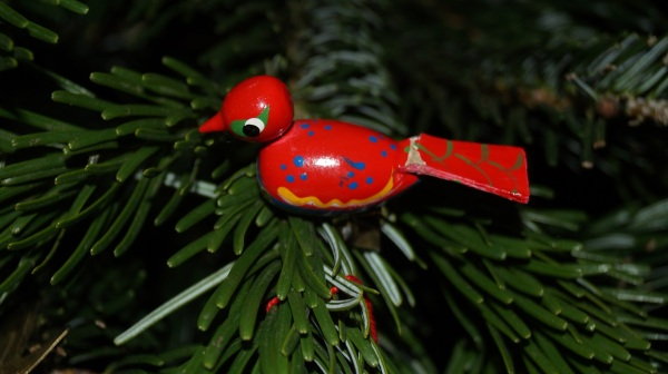 clip-on bird ornament