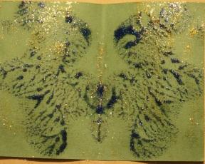 glitter glue inkblot blue