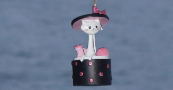 kitty in a hat box