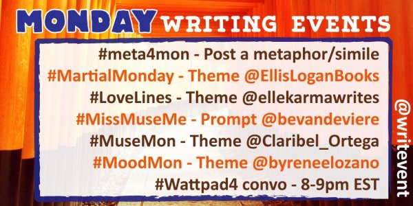 monday writing events