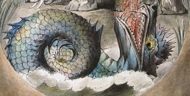 Leviathan cropped from William Blake's illustrations of the book of Job