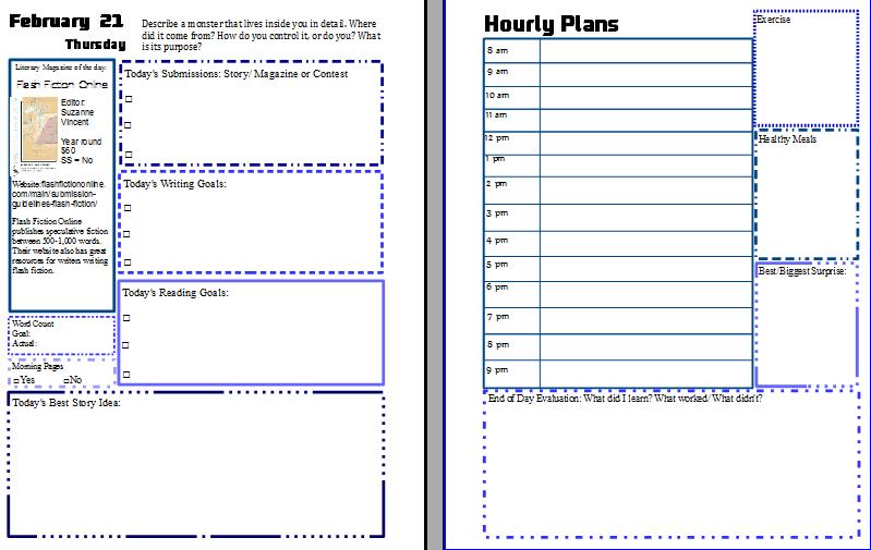 Week three pages blue