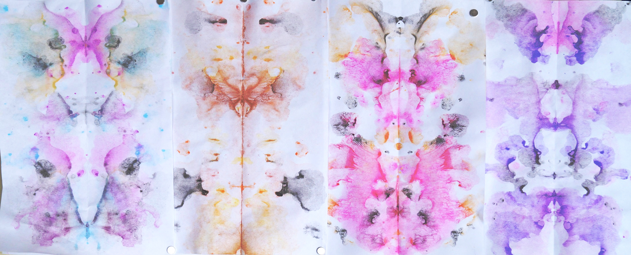 four ink blots