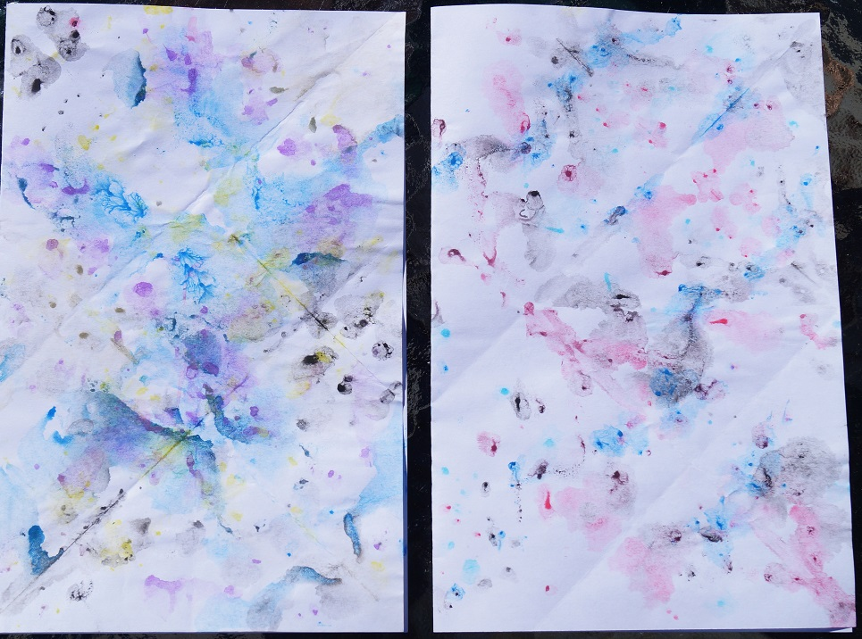 ink blots multiple diagonal folds resized