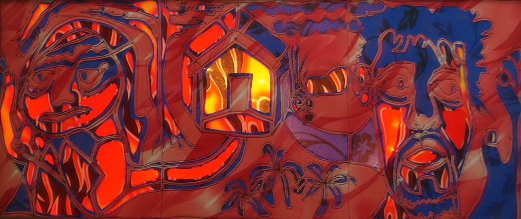 fabricglass textile art by Maria L. Berg