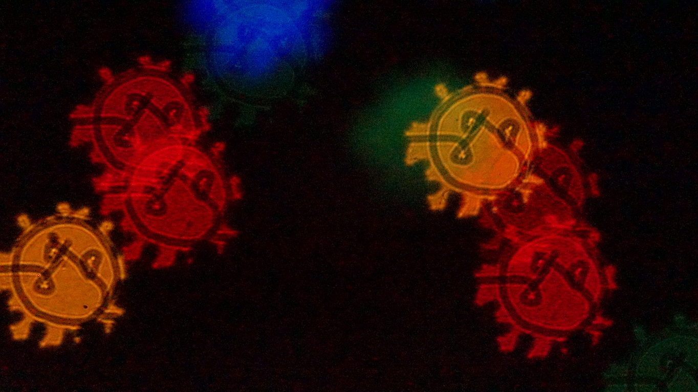 artistic interpretation of the corona virus