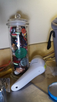 button jar and mini-vac