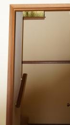 looking through the hall door