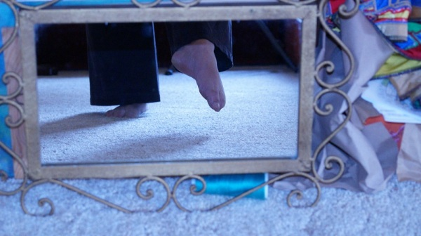 my feet and their shadows