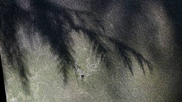 shadow on textured surface