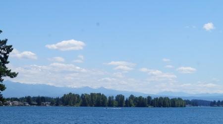 lake and mountain hiding