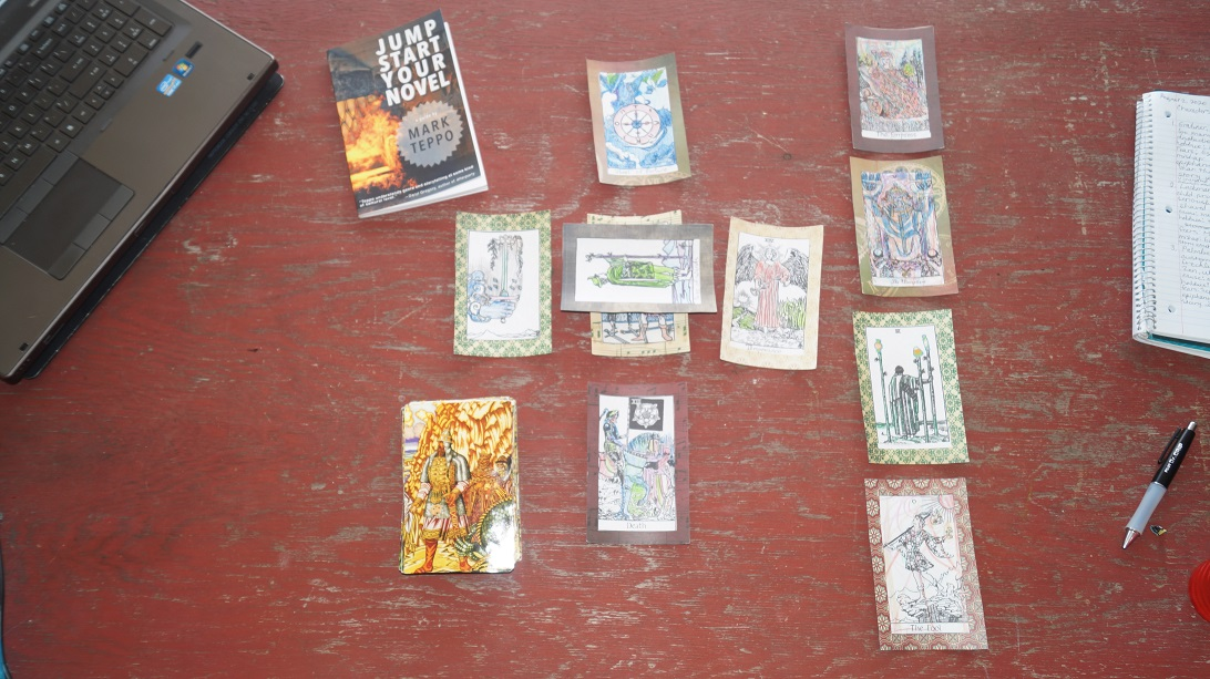 plotting with tarot for writer in motion