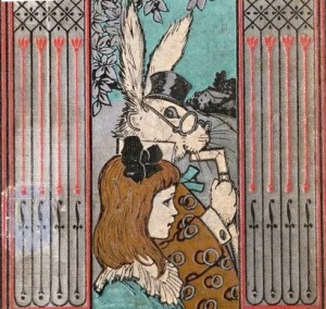Alice and the white rabbit.