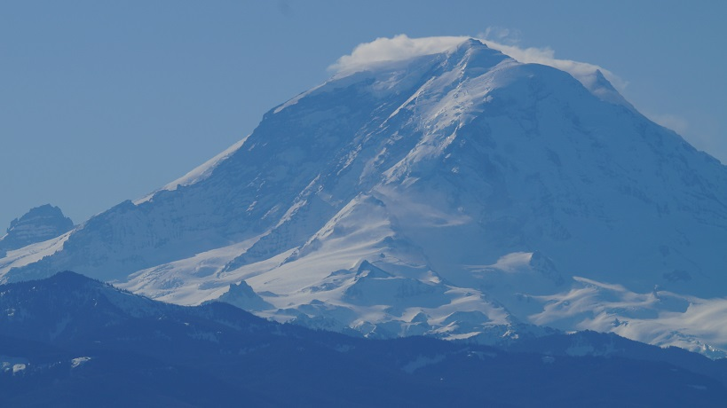 close-up photograph of Mt. Rainier